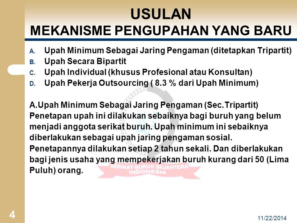 11/22/2014 4 USULAN MEKANISME PENGUPAHAN YANG BARU A.