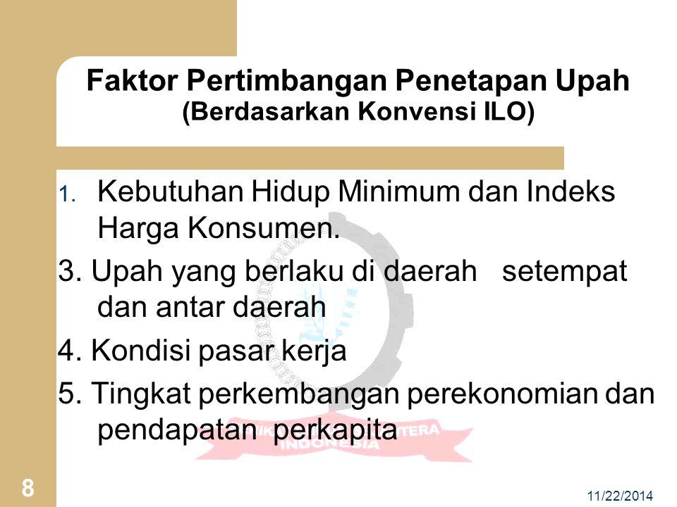 11/22/2014 8 1.Kebutuhan Hidup Minimum dan Indeks Harga Konsumen.