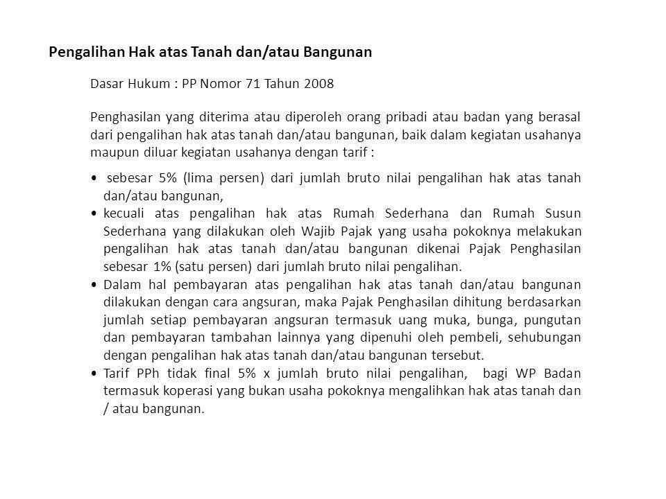 Transaksi Penjualan Saham di Bursa Efek Dasar Hukum : PP Nomor 14 Tahun 1997 jo.