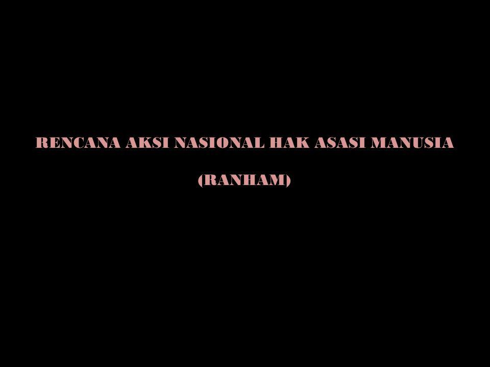 RENCANA AKSI NASIONAL HAK ASASI MANUSIA (RANHAM)