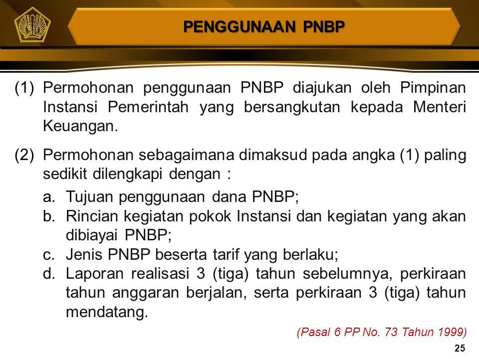 Sebagian dana PNBP dapat digunakan untuk membiayai kegiatan tertentu meliputi : 1. Penelitian dan pengembangan teknologi, 2. Pelayanan kesehatan, 3. P