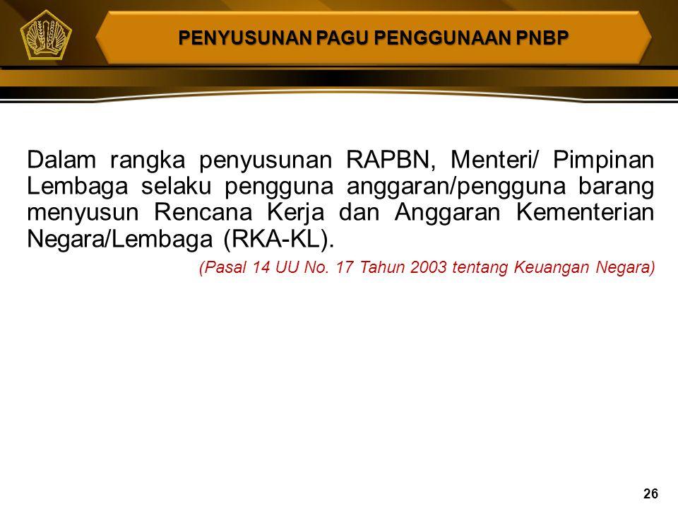 (1)Permohonan penggunaan PNBP diajukan oleh Pimpinan Instansi Pemerintah yang bersangkutan kepada Menteri Keuangan. (2)Permohonan sebagaimana dimaksud