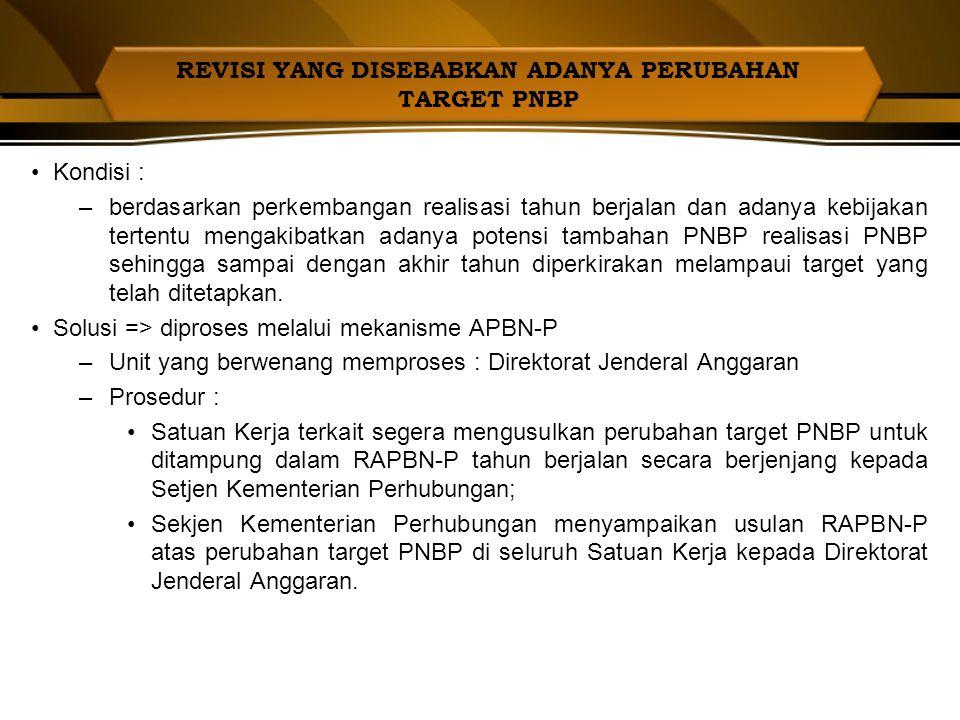 a.Dasar Hukum Revisi Anggaran 1)UU No. 10 Tahun 2010 ttg APBN TA 2011 :  Pasal 22 : Perubahan/pergeseran  Pasal 23 : Penggunaan Hasil Optimalisasi D