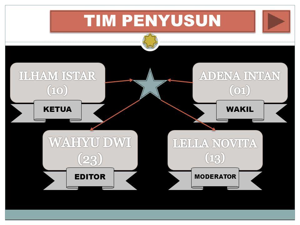 TIM PENYUSUN WAKIL KETUA EDITOR MODERATOR