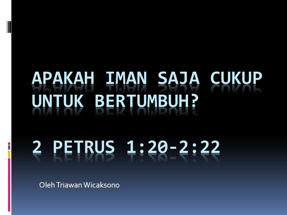  20 Yang terutama harus kamu ketahui, ialah bahwa nubuat-nubuat dalam Kitab Suci tidak boleh ditafsirkan menurut kehendak sendiri,  21 sebab tidak pernah nubuat dihasilkan oleh kehendak manusia, tetapi oleh dorongan Roh Kudus orang-orang berbicara atas nama Allah.