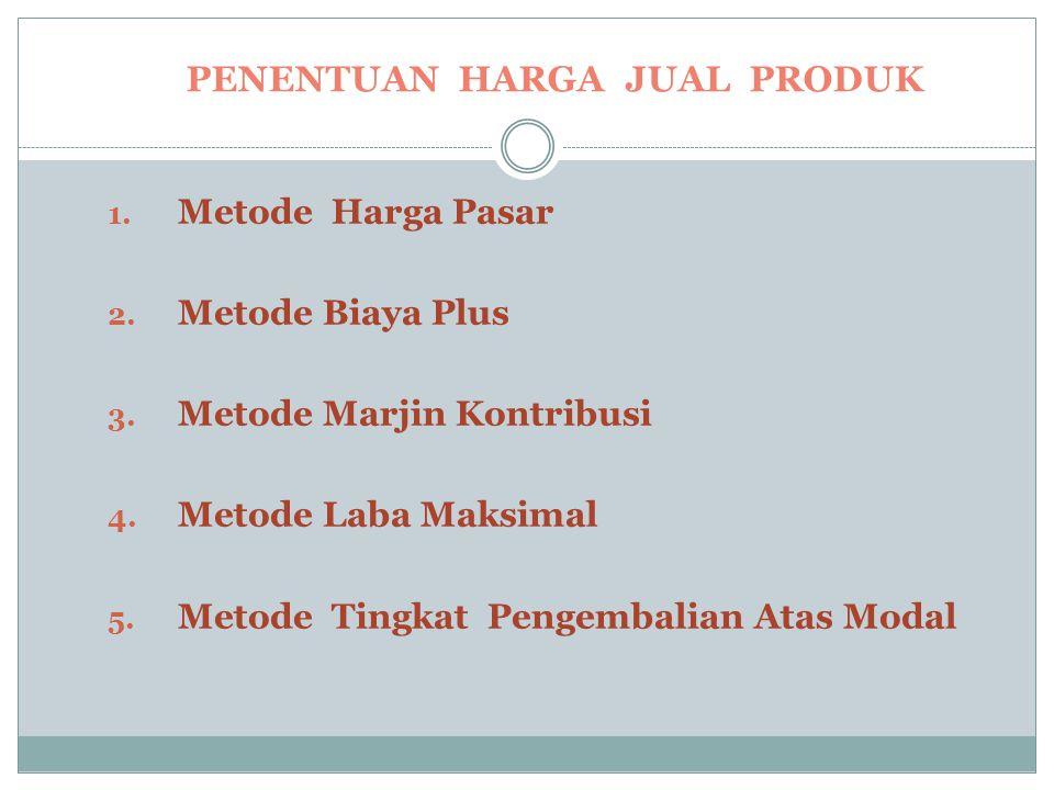 Penentuan Harga Jual Produk 1.
