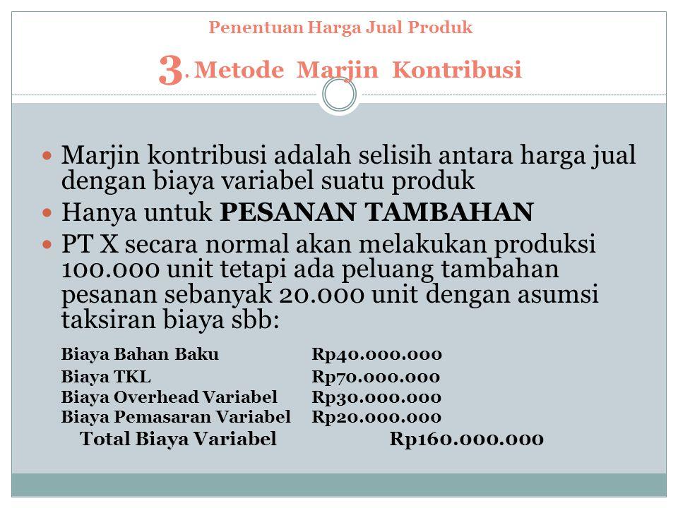 Penentuan Harga Jual Produk 3.