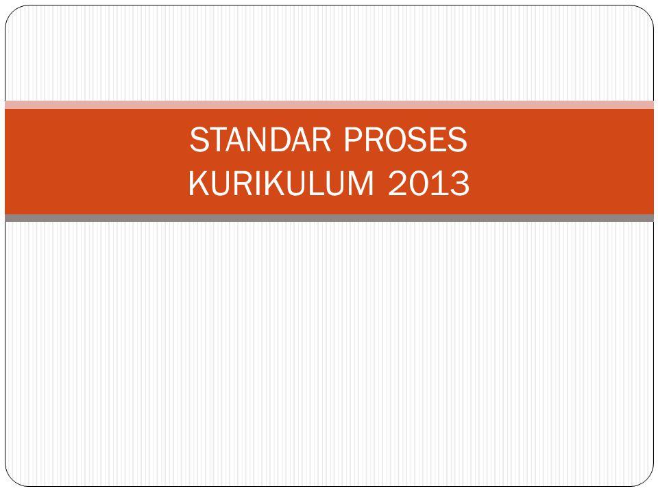 STANDAR PROSES KURIKULUM 2013