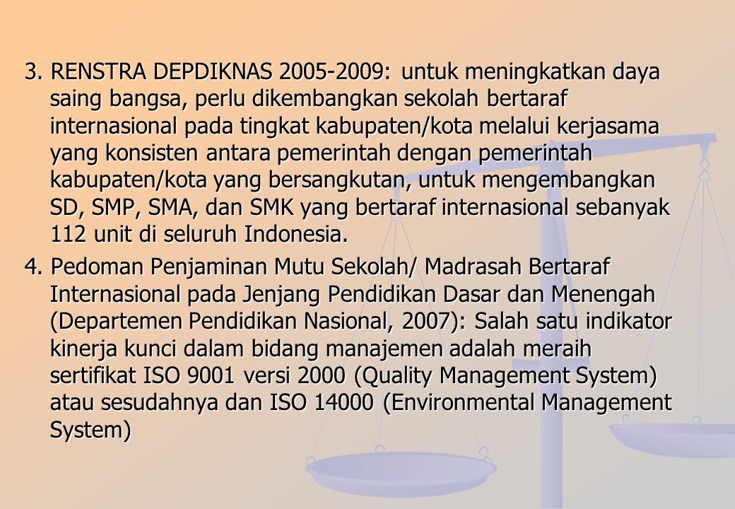 """MENGAPA PERLU SERTIFIKASI ISO? LANDASAN LEGALITAS: 1. UU NO. 20/2003 ttg SISDIKNAS: Pasal 10 (3): """"Pemerintah dan/atau Pemerintah Daerah menyelenggara"""