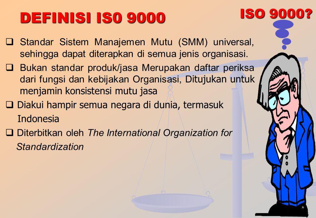 TAHAPAN REVISI 1SO SERI 9000 1987 1994 2000 Requirements 2008 Requirements ISO 8402 ISO 9000 ISO 9001 ISO 9004 ISO 9001 ISO 9002 ISO 9004 ISO 19011 TO