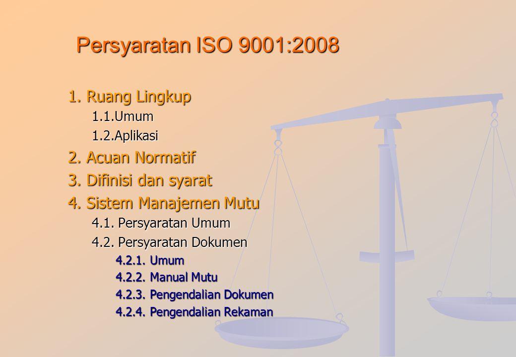 PERINGKAT DOKUMEN ISO 9000 MANUAL MUTU (MM) PROSEDUR MUTU (PM) INSTRUKSI KERJA ( IK ) FORMULIR, LAMPIRAN REKAMAN DLL DOKUMEN PERINGKAT I DOKUMEN PERIN