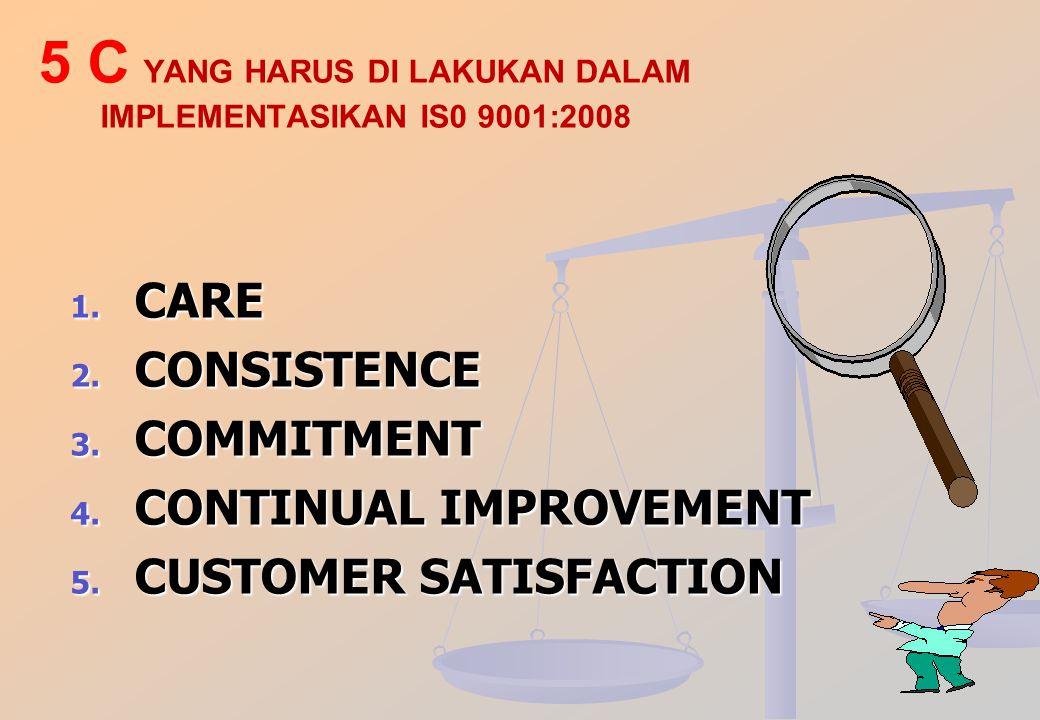 STRATEGI IMPLEMENTASI SMM ISO 9001 : 2008 DI SEKOLAH PENUTUP Implementasi ISO merupakan proses secara utuh, lengkap dan tidak terputus dalam proses pe
