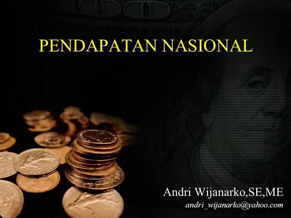 PENDAPATAN NASIONAL Andri Wijanarko,SE,ME andri_wijanarko@yahoo.com