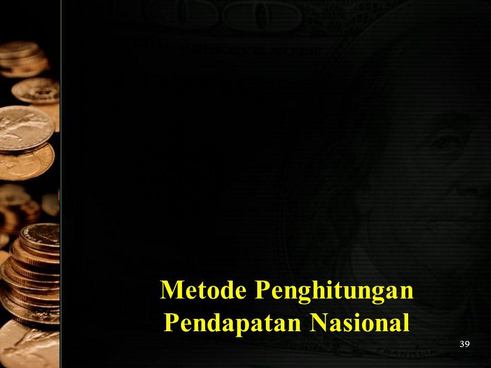 39 Metode Penghitungan Pendapatan Nasional