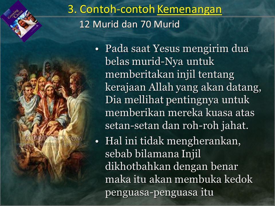 Pada saat Yesus mengirim dua belas murid-Nya untuk memberitakan injil tentang kerajaan Allah yang akan datang, Dia mellihat pentingnya untuk memberika