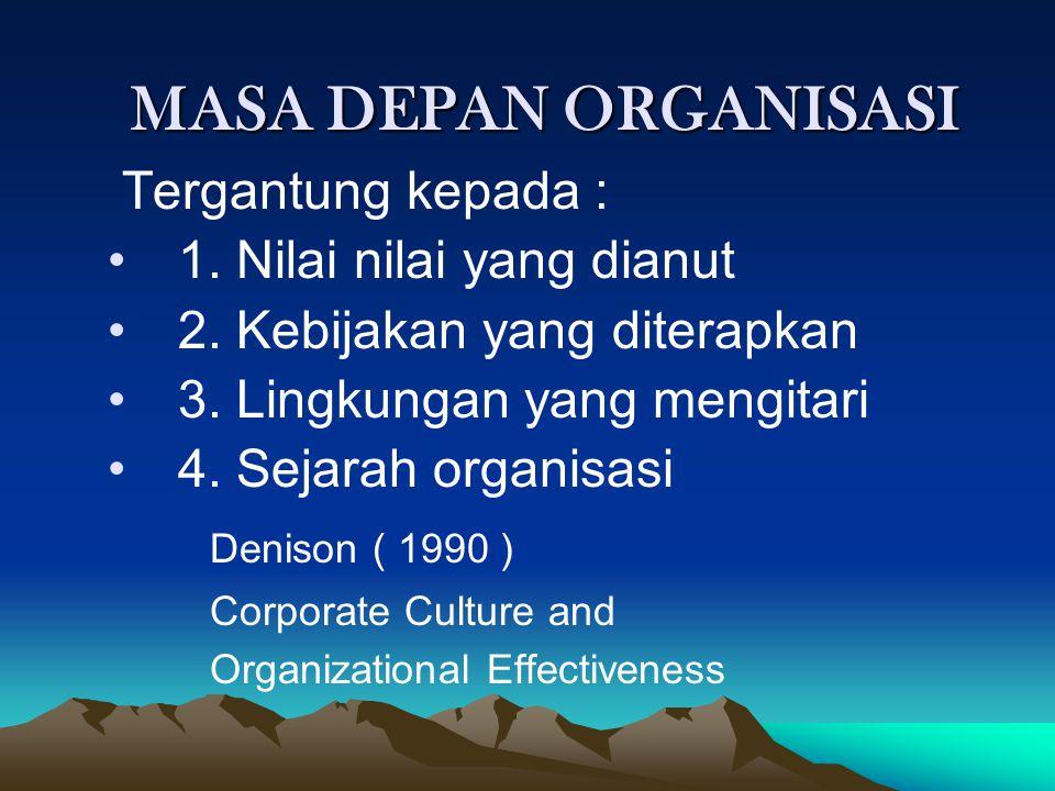 DEFINISI ORGANISASI Sekelompok manusia (group of people) yang bekerjasama untuk mencapai tujuan bersama ( common goals ) Organisasi bukan tujuan tetap