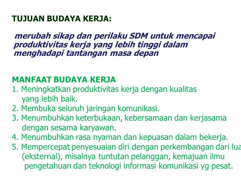 MASALAH BUDAYA KERJA ORGANISASI PEMERINTAH 1.