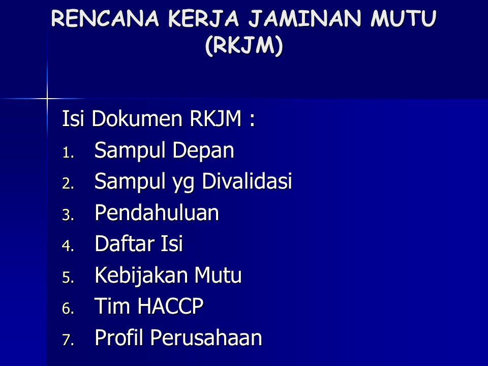Lanjutan isi dokumen RKJM: 8.Struktur Kerja & Deskriptif Kerja 9.
