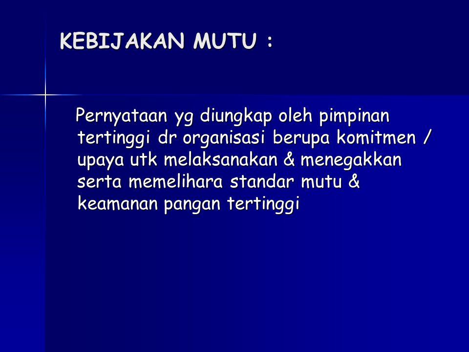 Rencana Kerja Jaminan Mutu Chicken Nugget TOP PT.SEKAR TOP Jl.