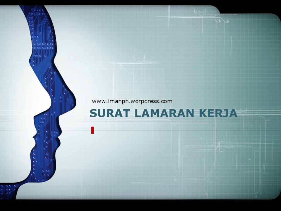 SURAT LAMARAN KERJA www.imanph.worpdress.com