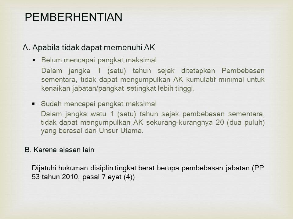 PEMBERHENTIAN A.
