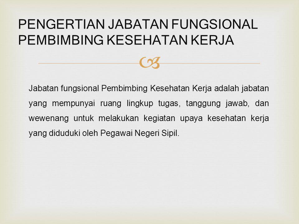 (Pengangkatan melalui perpindahan dari jabatan lain) PERPINDAHAN JABATAN KE PEMBIMBING KESEHATAN KERJA Persyaratan: a.