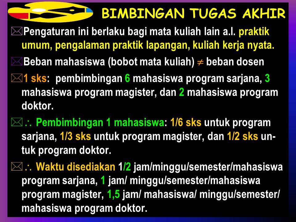 M. Adimihardja (Unila)Beban Tugas Dosen17 SEMINAR TERJADWAL  1 sks seminar terjadwal terdiri atas 50 menit tatap muka/minggu/semester di- ikuti 1 jam