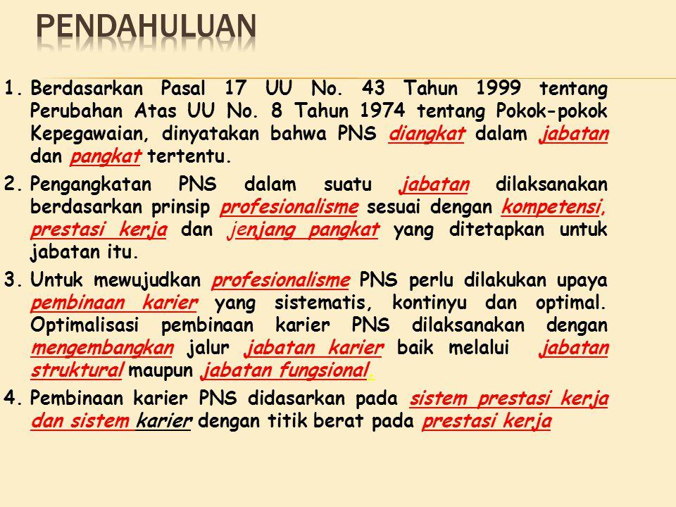 1.Berdasarkan Pasal 17 UU No.43 Tahun 1999 tentang Perubahan Atas UU No.