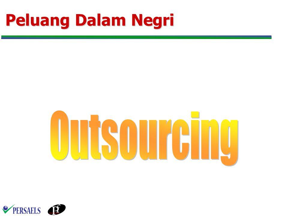 Outsourcing Hasil dari perubahan mendasar dari proses pengelolaan perusahaan yang bertujuan meningkatkan kinerja agar dapat terus kompetitif dalam menghadapi perkembangan ekonomi dan teknologi global.