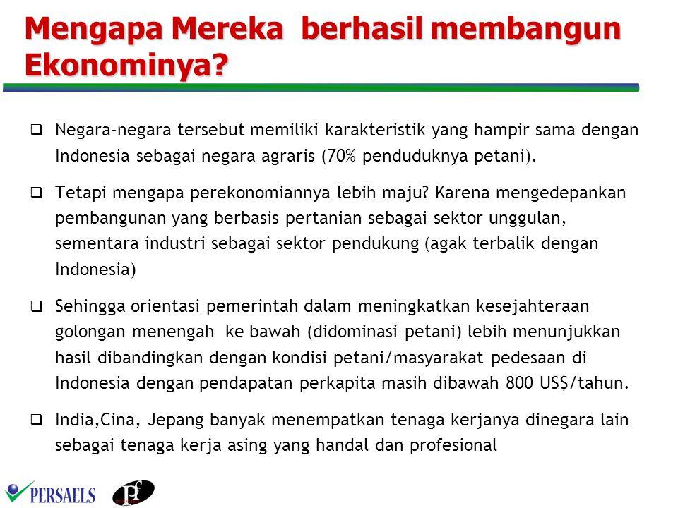 Dampak dari Liberalisasi Tenaga Kerja Output Program - Penurunan tingkat pengangguran -Pengusaan posisi strategis di perusahaan asing yang ada di Indonesia -Pengiriman Tenaga Kerja keluar Negeri 1.Menciptakan Pelatihan yang mengembangkan kompetensi 2.Memberikan sertifikasi kompetensi 3.Membuat aturan main agar tenaga kerja Indonesia menempati posisi kunci 4.Mengawasi pelaksanaan program transfer knowledge dan keberhasilan tenaga pendamping