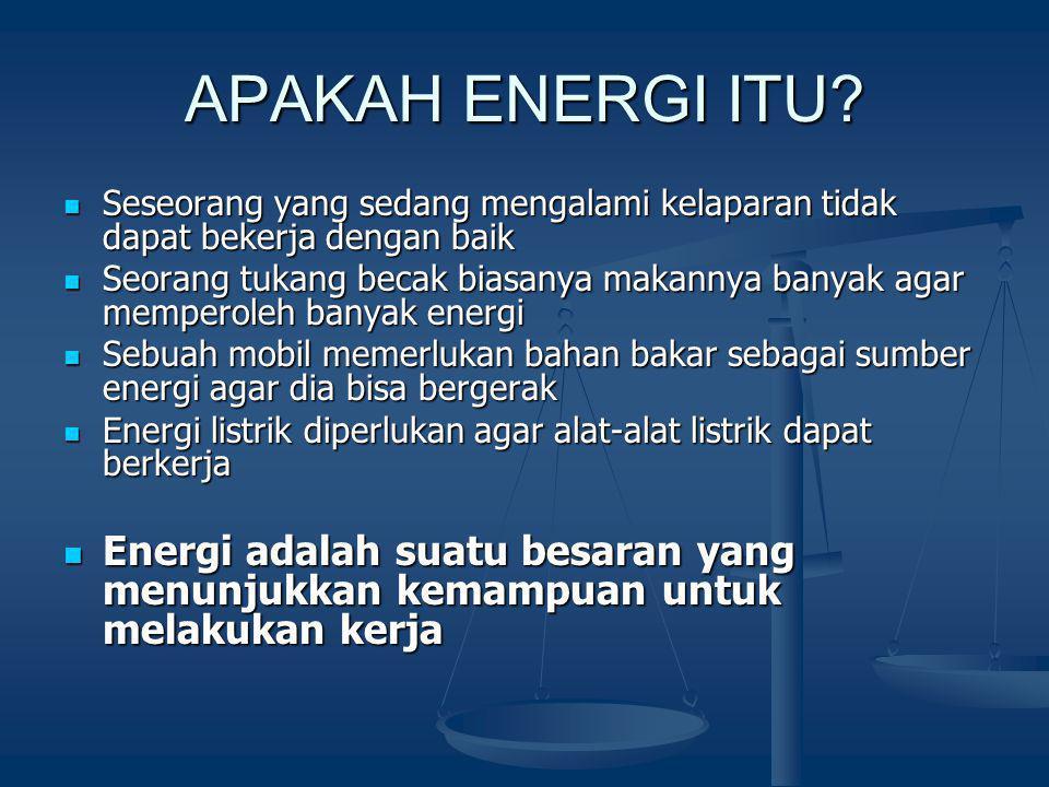 APAKAH ENERGI ITU.