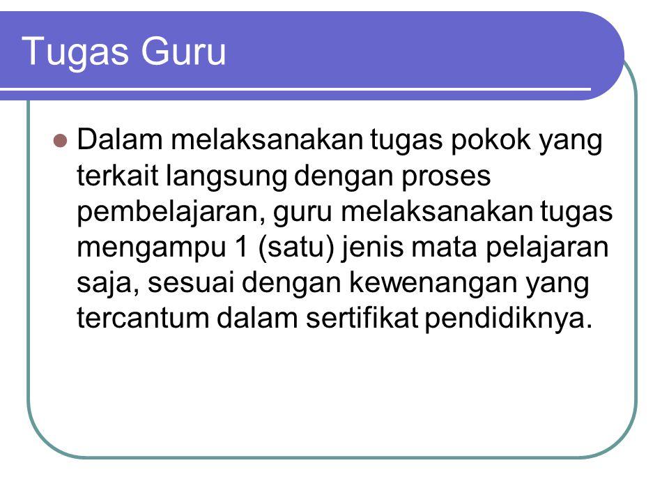 Uraian Tugas Guru 1.Merencanakan Pembelajaran  RPP 2.
