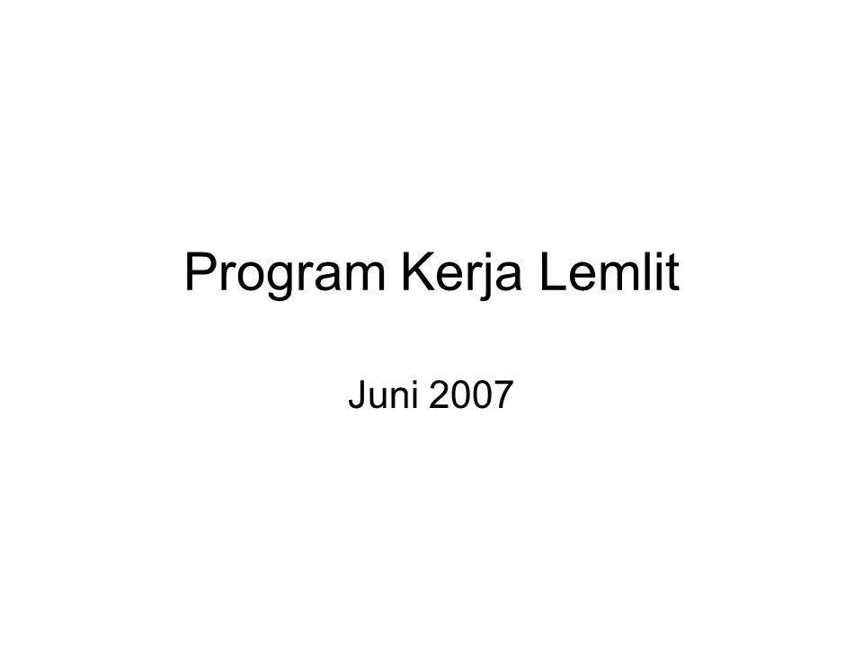 Program Kerja Lemlit Juni 2007