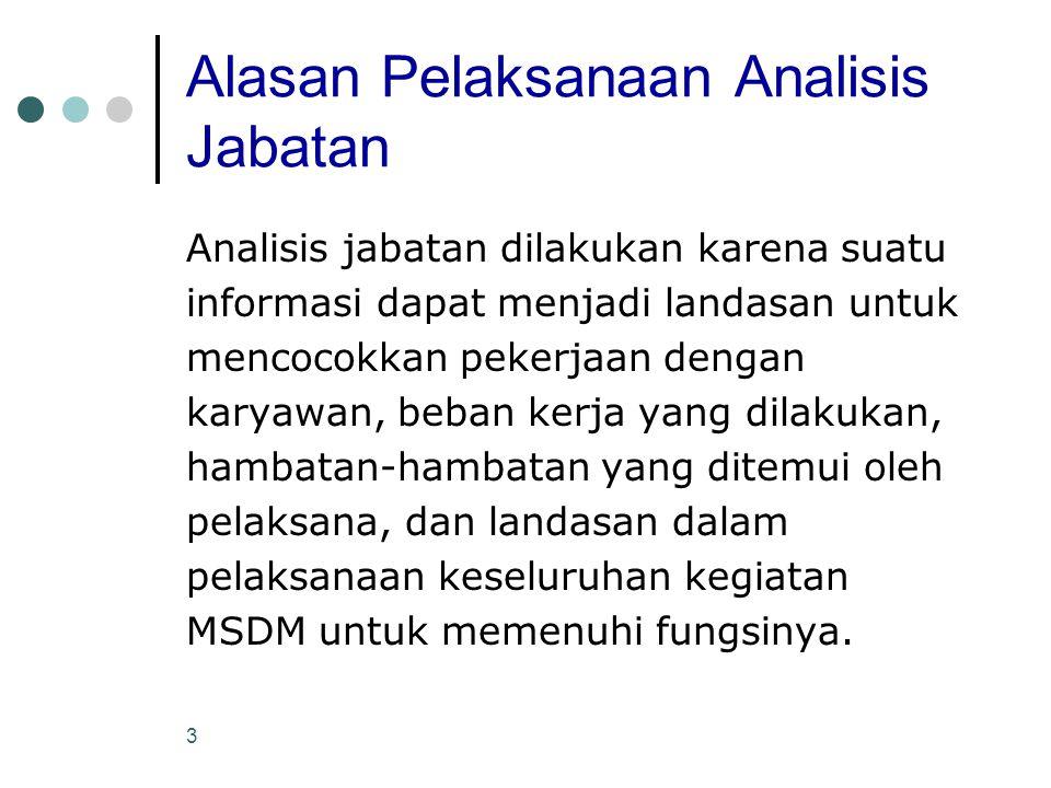 Menurut pendapat Saudara, apa yang dimaksud dengan : a) Job analysis.