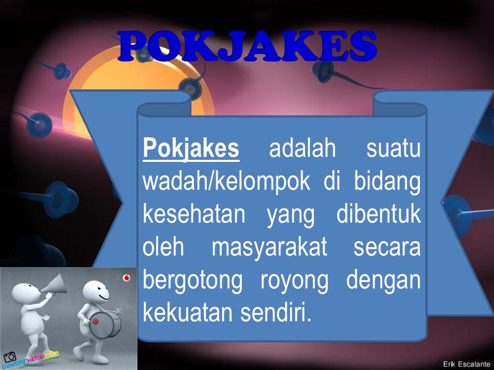 Pokjakes adalah suatu wadah/kelompok di bidang kesehatan yang dibentuk oleh masyarakat secara bergotong royong dengan kekuatan sendiri.