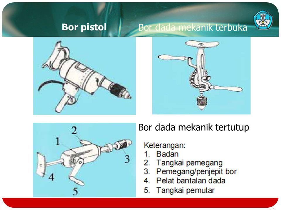 Bor pistol Bor dada mekanik tertutup Bor dada mekanik terbuka