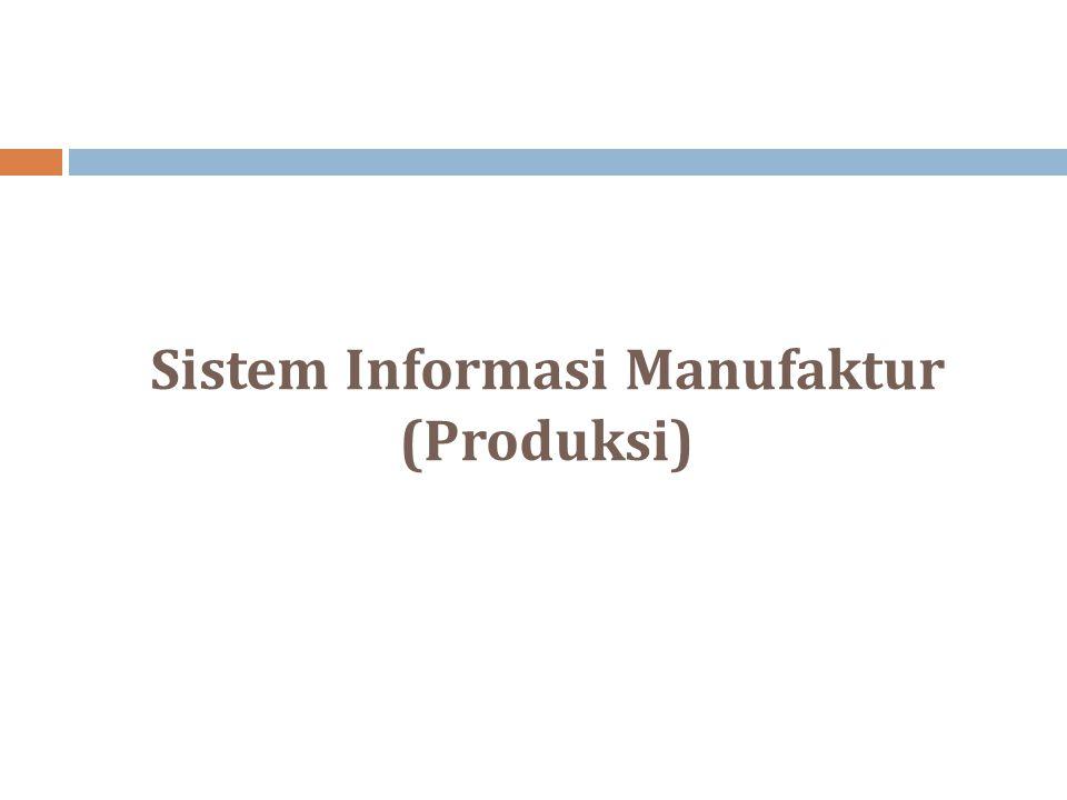 Sistem Informasi Manufaktur (Produksi)