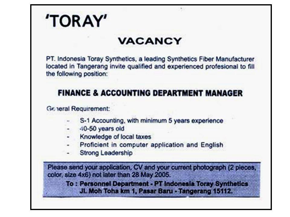 PELUANG KARIR Sebuah media massa professional yang telah memiliki reputasi di kalangan pelaku bisnis Indonesia, memberikan peluang pada anda untuk bergabung sebagai: 1.Account Executive (AE) Pendidikan S1 Pria, Wanita max.