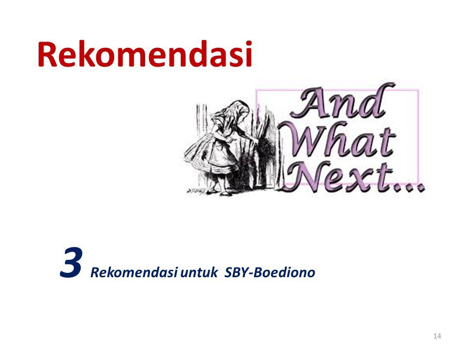 14 Rekomendasi 3 Rekomendasi untuk SBY-Boediono