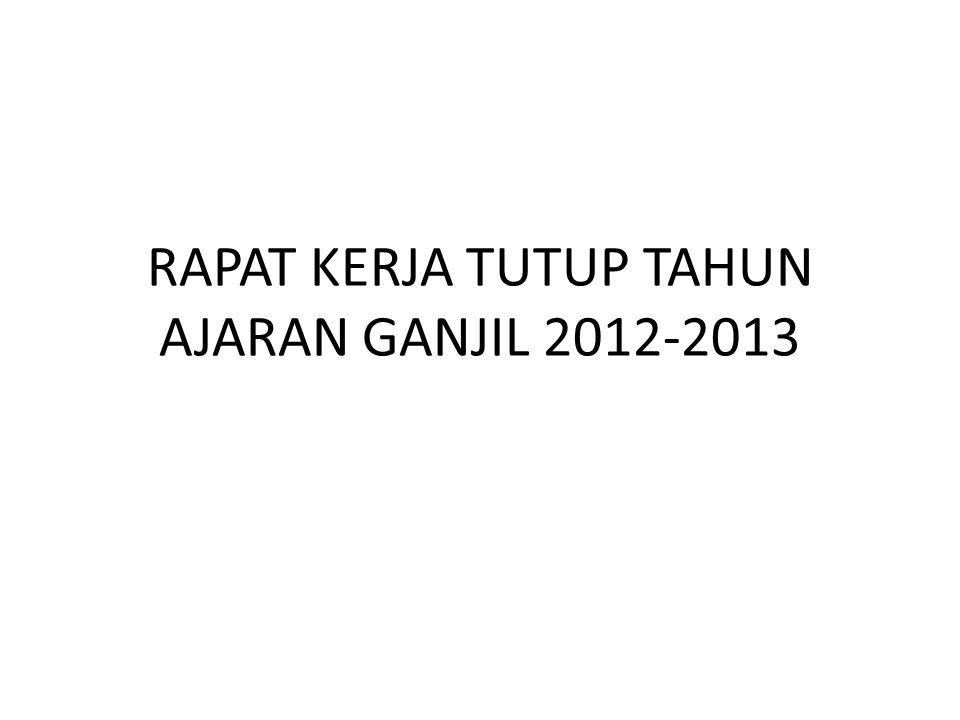 RAPAT KERJA TUTUP TAHUN AJARAN GANJIL 2012-2013