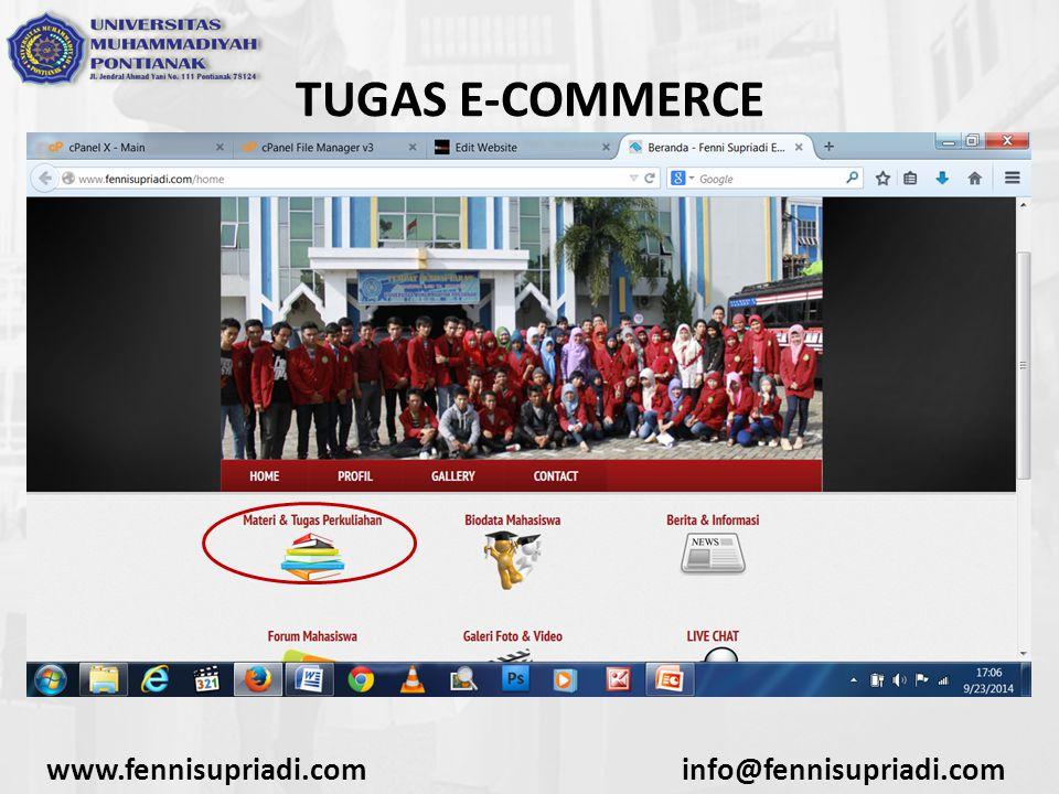 www.fennisupriadi.cominfo@fennisupriadi.com TUGAS E-COMMERCE