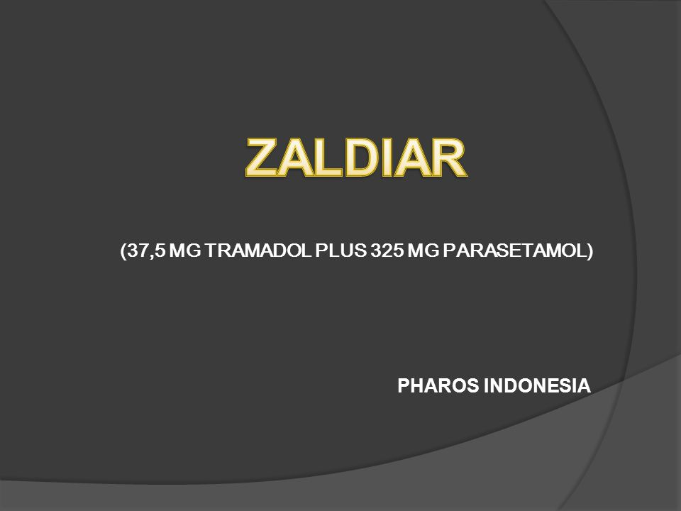 PHAROS INDONESIA (37,5 MG TRAMADOL PLUS 325 MG PARASETAMOL)