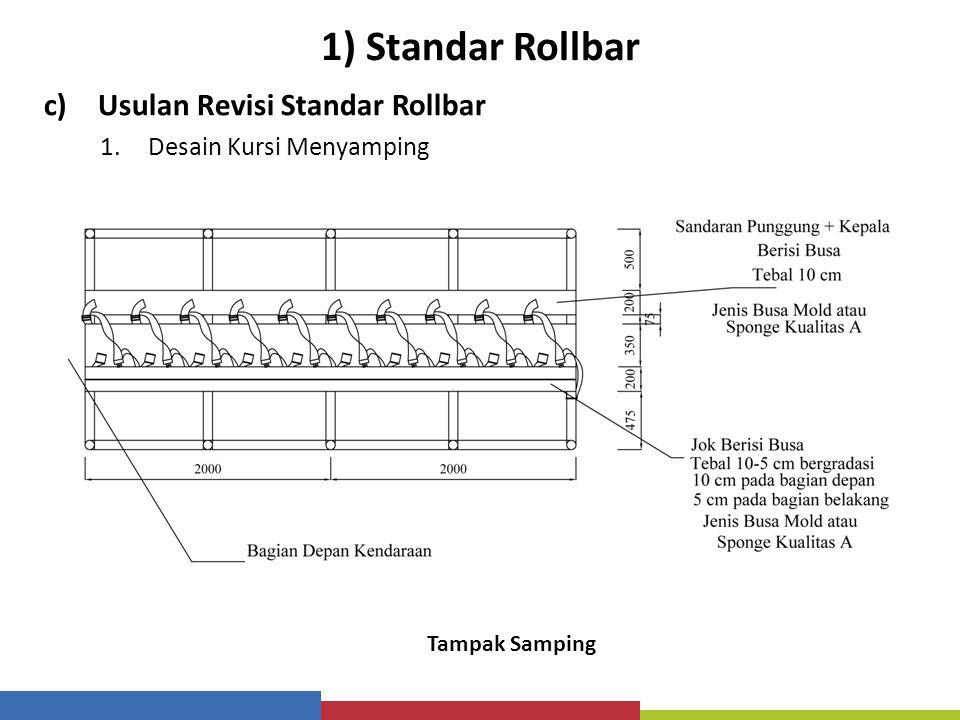 1) Standar Rollbar c)Usulan Revisi Standar Rollbar 1.Desain Kursi Menyamping Tampak Samping