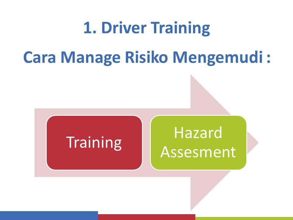 1. Driver Training Training Hazard Assesment Cara Manage Risiko Mengemudi :