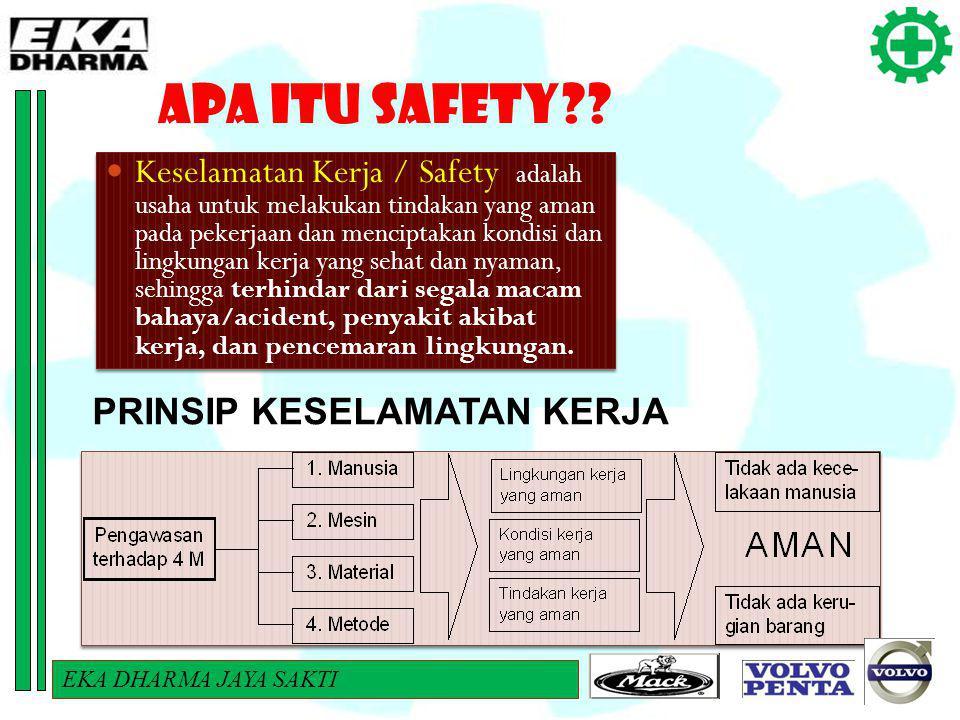 APA ITU SAFETY?? PRINSIP KESELAMATAN KERJA Keselamatan Kerja / Safety adalah usaha untuk melakukan tindakan yang aman pada pekerjaan dan menciptakan k