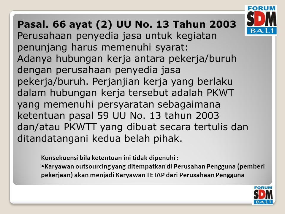 Pasal. 66 ayat (2) UU No.