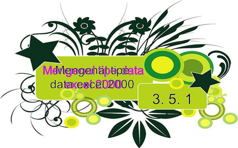 Dalam Excel 2000 kita akan sering berhubungan dengan kata Sel dan Range.