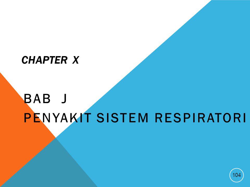 CHAPTER X BAB J PENYAKIT SISTEM RESPIRATORI 104