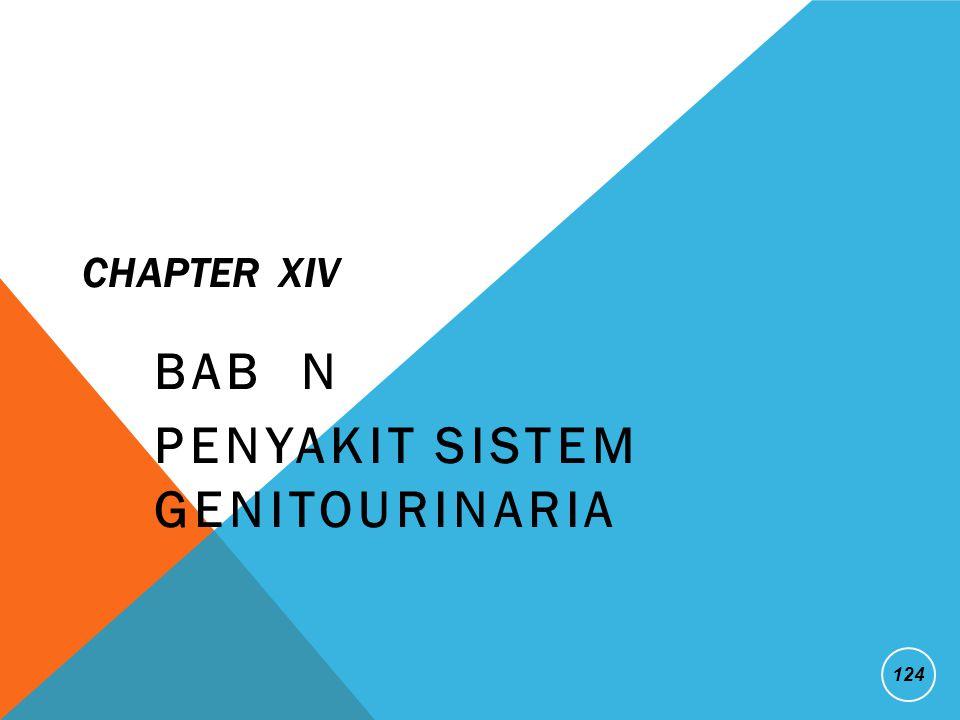 CHAPTER XIV BAB N PENYAKIT SISTEM GENITOURINARIA 124