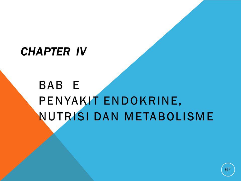 CHAPTER IV BAB E PENYAKIT ENDOKRINE, NUTRISI DAN METABOLISME 67